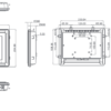 """PAN148-J1900 8.4"""" LCD Fanless Touch Panel PC Dimensional Chassis Drawing"""