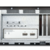 4U black industrial expansion chassis with PCIex8 back