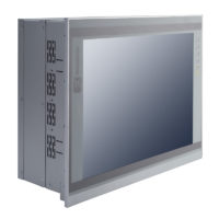 "PAN415 15"" LCD Slim Touch Panel PC Left"